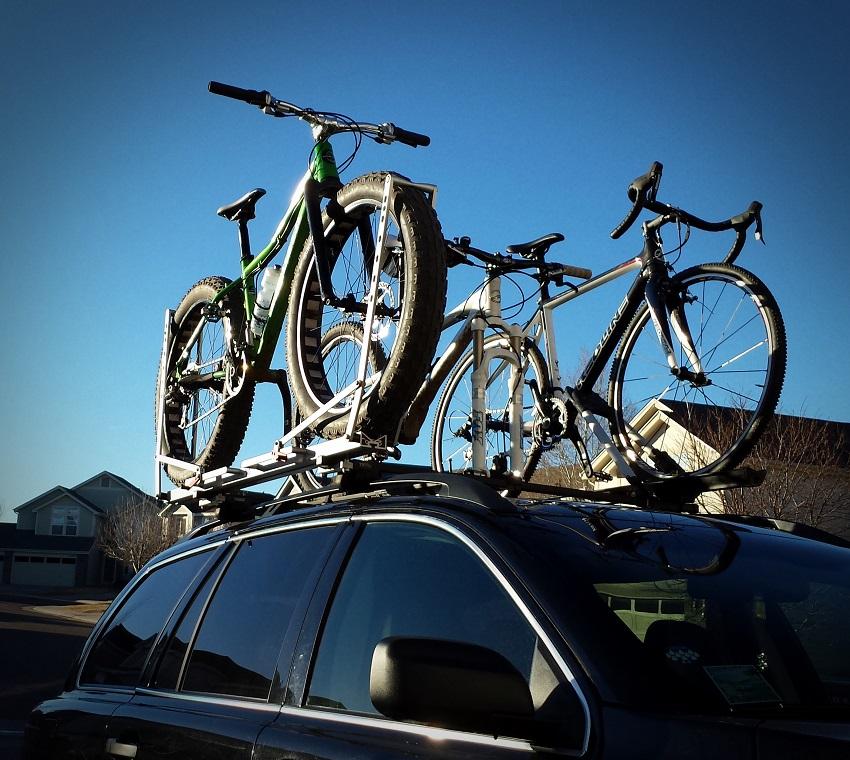 transport bikes in car